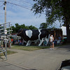 And there is the giant cow.  I guess we are in Dairy Country!