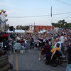 Sun setting on Elsie, Michigan and the crowd is loving the show.  They would stay all night for this entertainment.