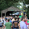 A sea of people at the Marshall County Blueberry Festival.  Visitor's have to walk through this covered bridge to get from one side of the park to the other.  A lot of oxygen is consumed.