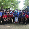 The Saline Fiddlers with Hank the Blueberry at the Marshal County Blueberry Festival