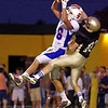 From FOOTBALL 2011 09 02 Delone Catholic 40 New Oxford 21. New Oxford's Aaron Yealy makes the reception.