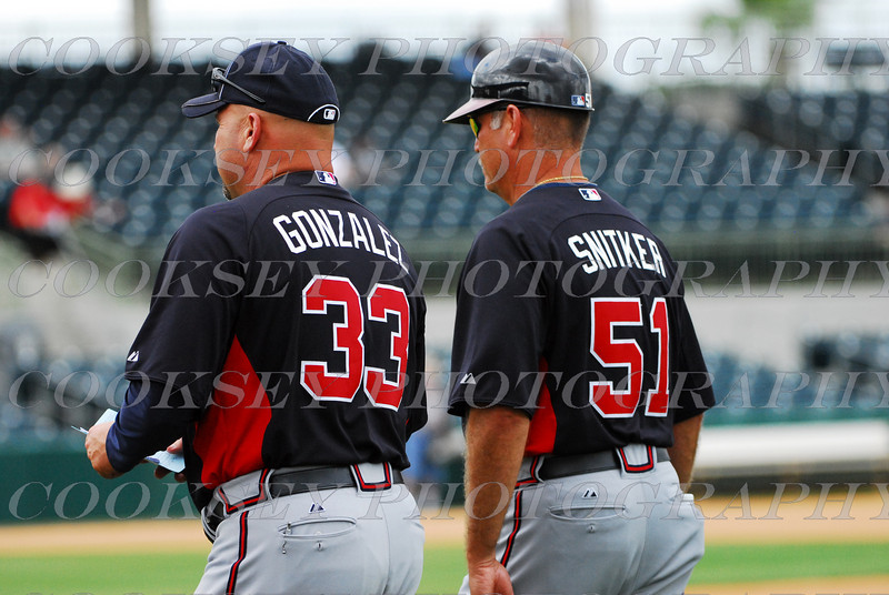 Coach Gonzalez and Coach Snitker - Spring Training 2011