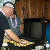 Steve cooking Kabobs (prepared by Barb and Sue)