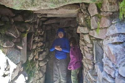 Inside a pre-Incan home...underground!