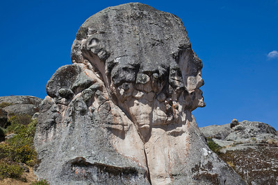 "The ""Rock of the Humanities""...there are supposed to be 14 faces in here!"