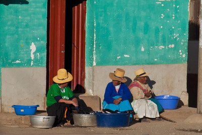 These women sat here every day at the end of the day...it was a warm place in the sun