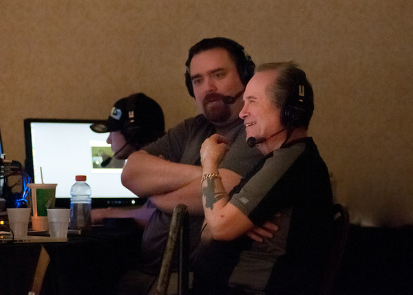 Justin (TAR) & Ed Kelly in the broadcast booth