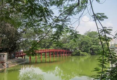 Island on Hoan Kiem Lake