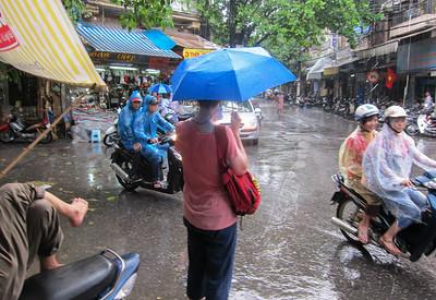 Rainy Street Scene