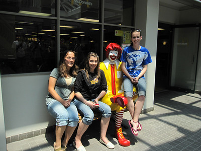 Grace Wiesner, Alyssa Zuiderveen and Kaylee Kessler.