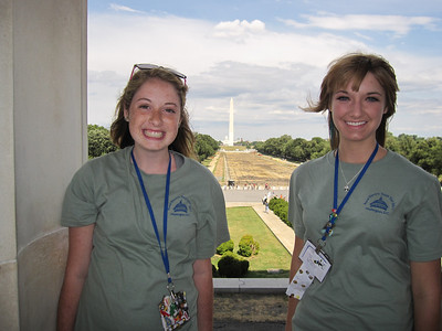 Ashley and Katelyn, taken from the Lincoln Memorial.