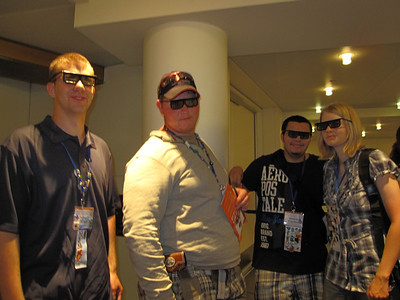 About to watch the 4-D movie....