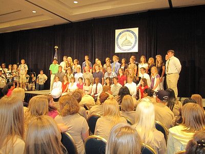 YLC onstage at the Youth Day assembly