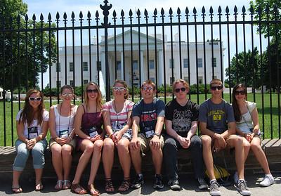 Students at the White House - compliments of Tom Tate (Sussex REC)