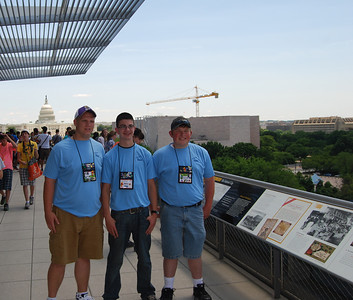 Students at the Newseum - compliments of Tom Tate (Sussex REC)