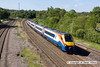 110604-001     East Midlands Trains class 222 no 222015 speeds past Clay Cross with the 07.30 London St Pancras-Sheffield