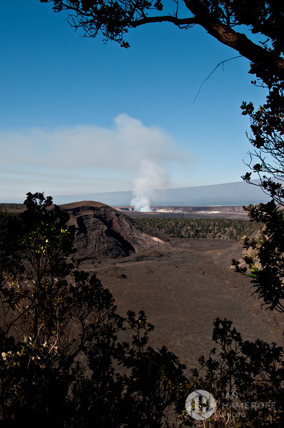 Looking Across Kīlauea Iki Crater at Halemaʻumaʻu