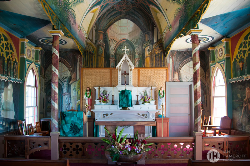 Looking Towards the Altar of the Painted Church