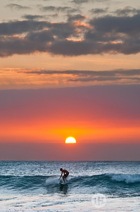 Surfer on the Sunset