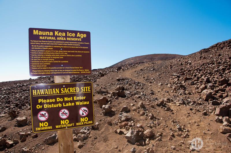 Warnings Before Lake Waiau