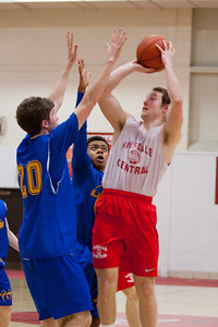 The Hinsdale Central High School boys' JV basketball team plays Lyons Township, February 11, 2013, in Hinsdale. (Daniel White photos).