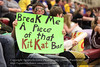 One of the Mott fans seems to be cheering for one of our players.