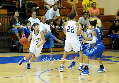 """12-28-12 MoHS Varsity Girls Basketball """"vs"""" Kaiser Cougar (38-42)"""