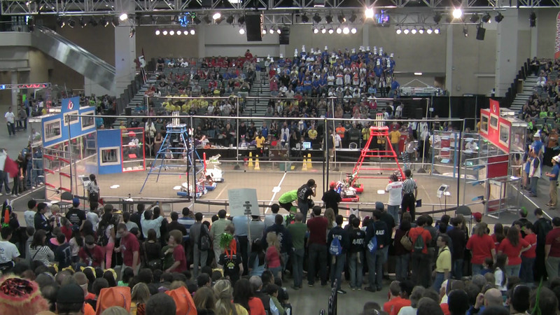 Semi Final Match 1 of 3 Official Score was Red 143 Blue 95