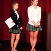 Student Moderators ask questions of the 2012 Alumnae Award Recipients.