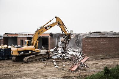 Stadium Project Holcomb School demolition   .