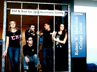 Sigma Kappa Jail & Bail Fundraiser for Hurricane Sandy Relief with Zeta Beta Xi