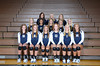 Front Row L to R: Andrea Jameson, Mackenzie Allen, Marisa Moseman, Bridget Bucher, Hannah Olsen, Kasey Hohlen<br /> 2nd Row L to R: Kylie Hohlen, Shalena Brown, Payton Ruhl, Jordyn Clauss, Maddy Bruder<br /> 3rd Row L to R: Coach Christina Boesiger, Coach Tobiann Waters, Coach Ashley Glesmann