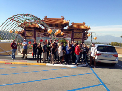 Here we are at the Los Angeles Buddhist Temple.