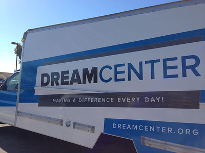 This morning we're helping deliver food with the Dream Center at locations all around LA.