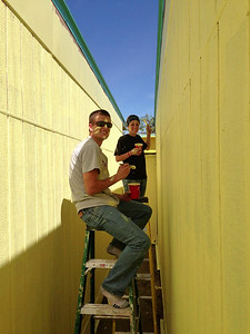 Today we're working with the Compton Initiative painting an elementary school.