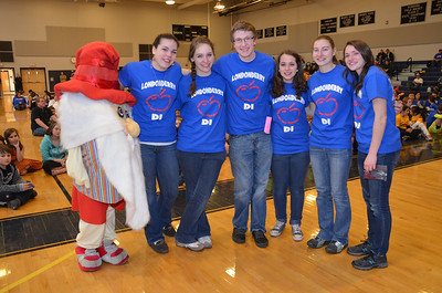 Londonderry seniors, each with over 10 years in NH-DI are recognized at the NH Destination Imagination, Kingston Regionals Awards Ceremony 2013. The team would later advance to the State Finals meet.
