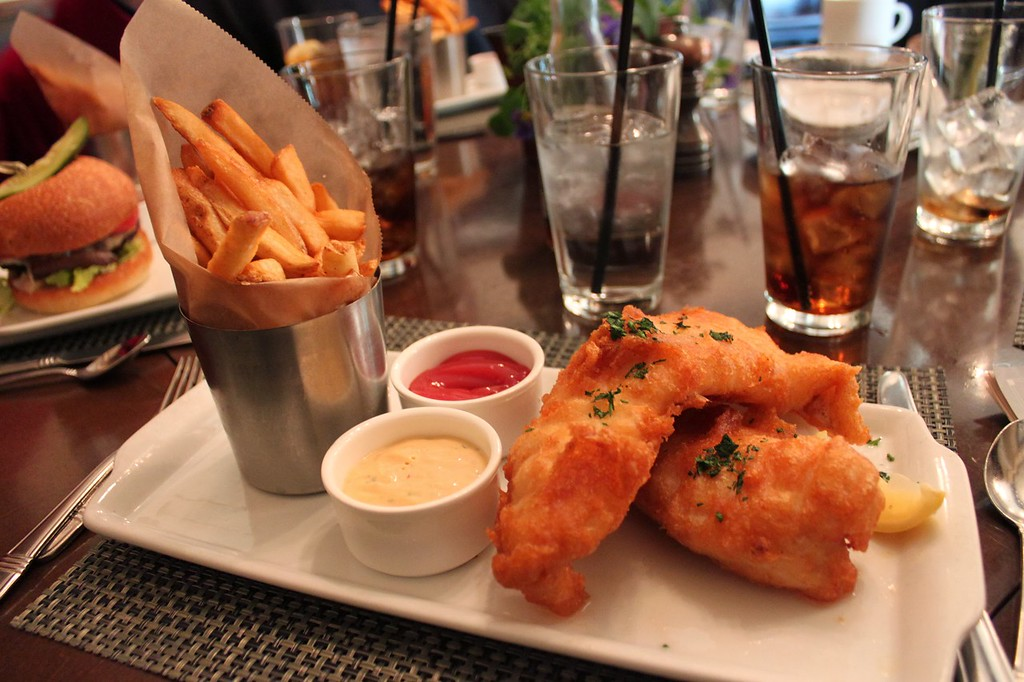 Fish and chips at Cedric's Tavern