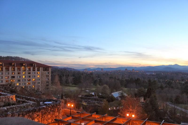 Sunset over Grove Park Inn