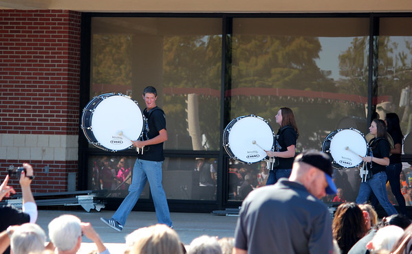 Nov. 17 Drum line performs at Festival of Lights