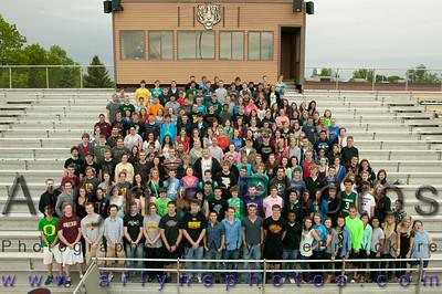 Hutch Graduation Practice and Sr Class Photo