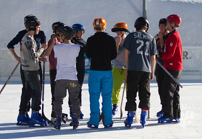 TASIS Ski Week in Crans Montana (High School) The Student/Faculty Hockey Game!!