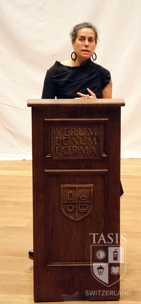 Dr. Lehman addressed the senior class in the Palmer Center.