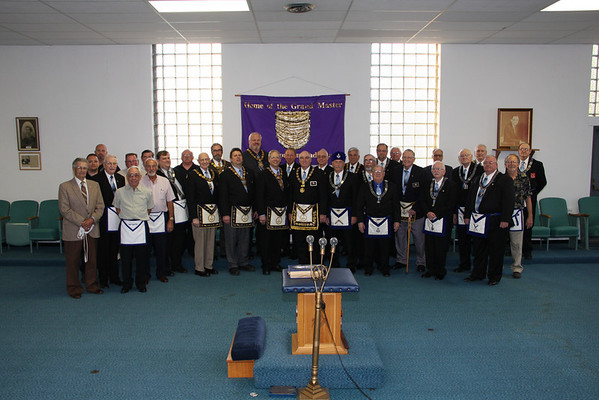 GM & GL Officers visit Parker Lodge 5-1-2013