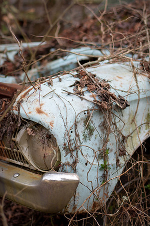 8/52 - An old rusted car on a friend's property in South Carolina.