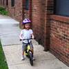 Mackenzie on her bike