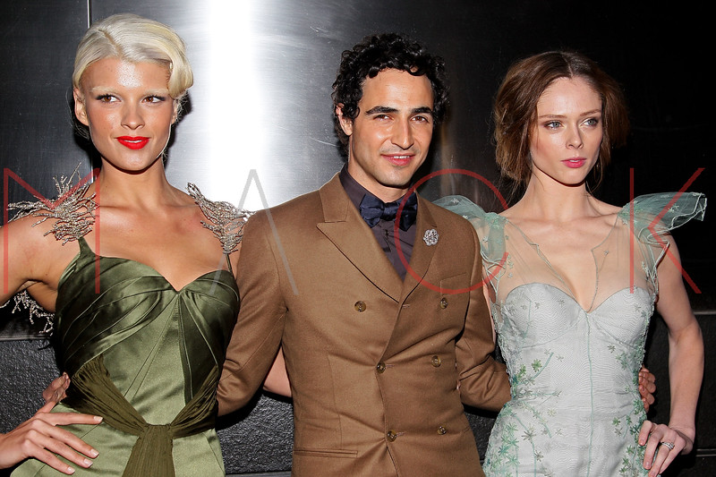 NEW YORK, NY - APRIL 10:  Zac Posen (C) and models Crystal Renn (L) and Coco Rocha attend the 9th annual Spring Dinner Dance New Year's In April: A Fool's Fete at the Mandarin Oriental Hotel on April 10, 2012 in New York City.  (Photo by Steve Mack/S.D. Mack Pictures)