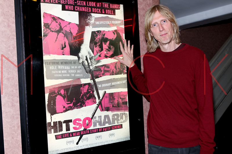 "NEW YORK, NY - APRIL 14:  Film subject and musician of the alternative American rock group Hole, Eric Erlandson attends the ""Hit So Hard Documentary Q & A With Members Of The Band Hole at Cinema Village Cinema on April 14, 2012 in New York City.  (Photo by Steve Mack/S.D. Mack Pictures)"
