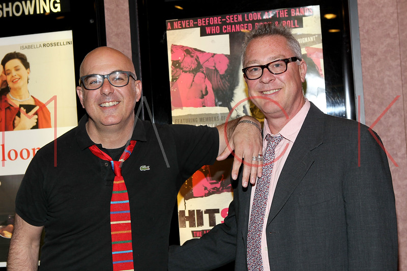 "NEW YORK, NY - APRIL 14:  Director David Ebersole (L) and producer Todd Hughes attend the ""Hit So Hard Documentary Q & A With Members Of The Band Hole at Cinema Village Cinema on April 14, 2012 in New York City.  (Photo by Steve Mack/S.D. Mack Pictures)"