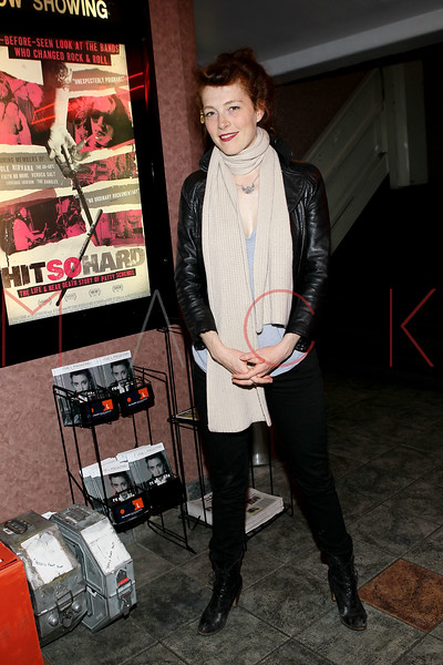 "NEW YORK, NY - APRIL 14:  Film subject and musician of the alternative American rock group Hole, Melissa auf der Maur attends the ""Hit So Hard Documentary Q & A With Members Of The Band Hole at Cinema Village Cinema on April 14, 2012 in New York City.  (Photo by Steve Mack/S.D. Mack Pictures)"