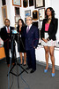 press conference in regards to a civil lawsuit filed by Jennifer Williams against Nia R. Crooks for assault & battery, New York, USA